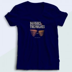 Bongoes and tremoloes V neck woman T shirt
