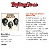 💥 Et c'est au tour de Head West de figurer dans le @rollingstonefrance Magzine de l'été !!💥   ⭐⭐⭐ Pour cette superbe réédition, disponible sur notre boutique